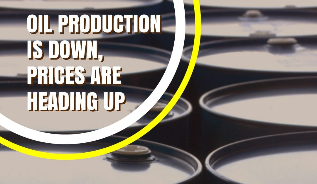Oil Production is Down, Prices are Heading Up