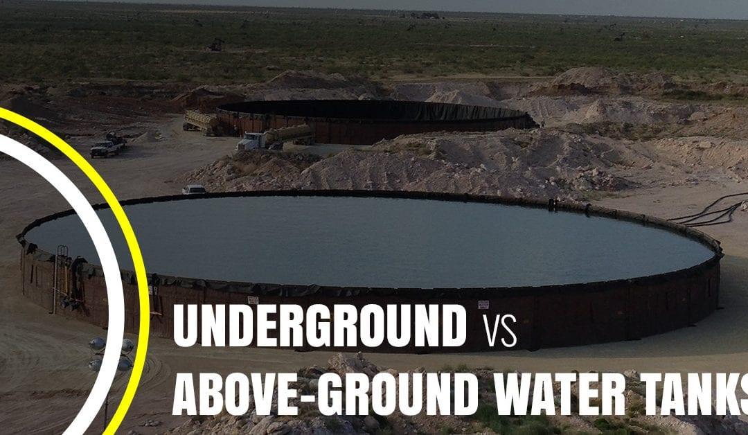 Underground vs Above-Ground Water Tanks